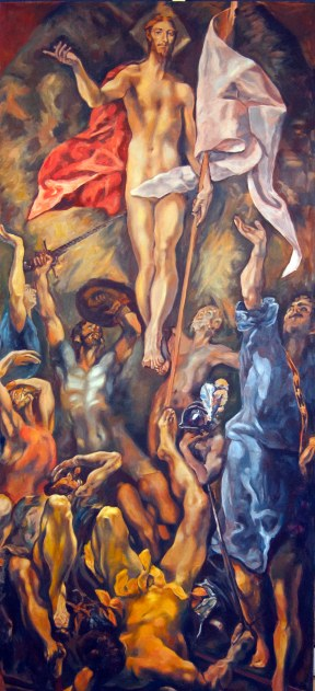 Interpretation of El Greco 'Resurrection""
